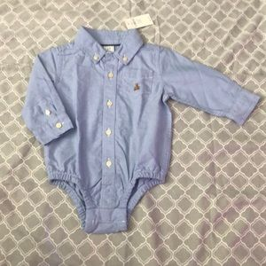 GAP Oxford button down onesie